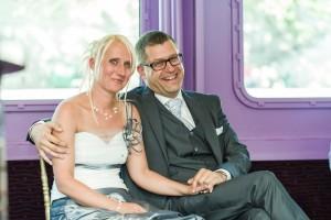 Het bruidspaar Kathy en Koen